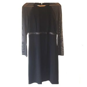 Dresses & Skirts - Talbots black dress with sheer sleeves